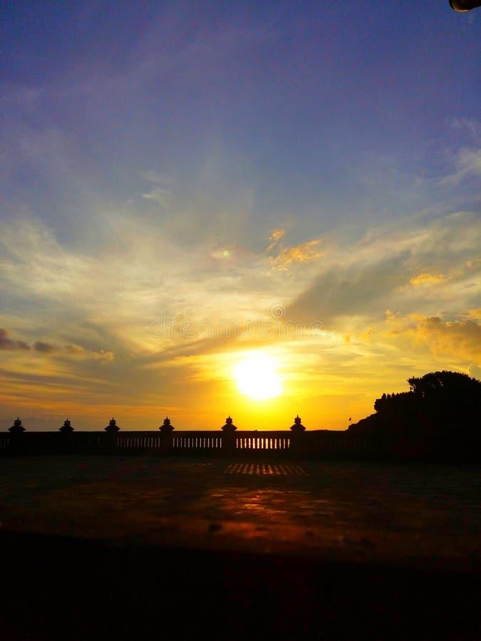 Ναός ηλιοβασιλέματος στοκ εικόνες