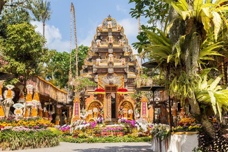 Ναός και κήπος του παλατιού Ubud στοκ εικόνα