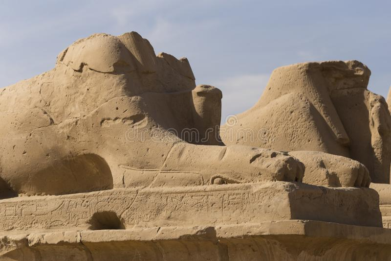 Ναός Καρνάκ Λουξεμβούργο, Αίγυπτος Αφρική, έρημος στοκ φωτογραφίες