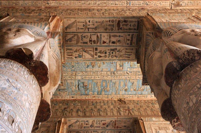 ναός καταστροφών dendera στοκ φωτογραφίες