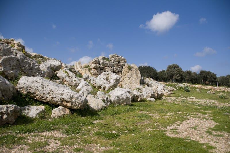 ναός καταστροφών ggantija στοκ εικόνες με δικαίωμα ελεύθερης χρήσης
