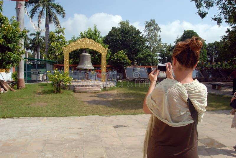 ναός κουδουνιών sarnath στοκ φωτογραφίες
