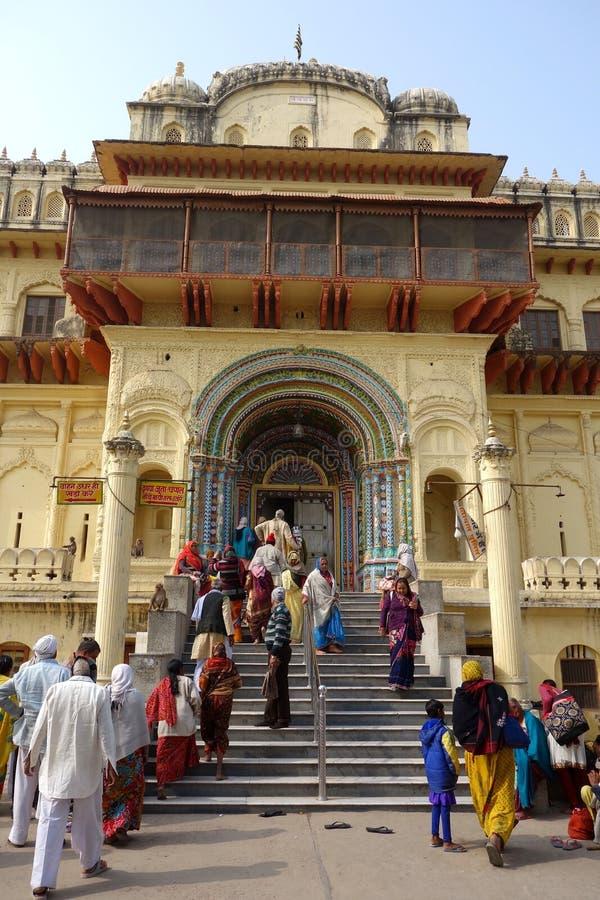 Ναός κριού σε Ayodhya στοκ φωτογραφία