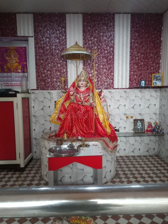 Ναός Λόρδου Durga της θέσης λατρείας hindus στοκ εικόνα