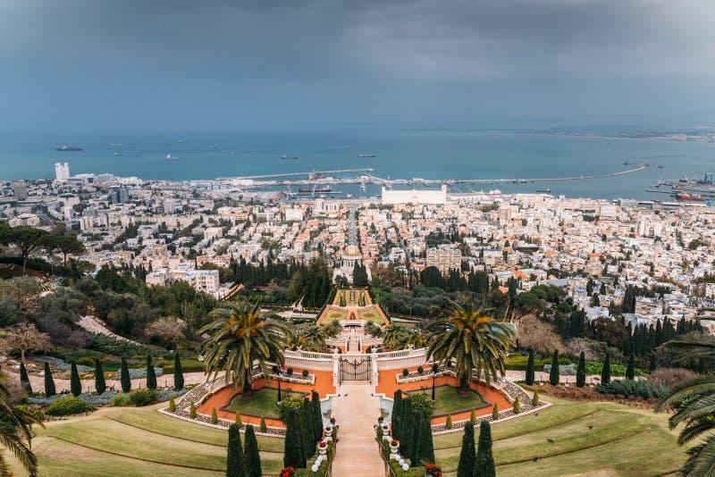 Ναός Μπαχάι στη Χάιφα, Ισραήλ στοκ φωτογραφίες με δικαίωμα ελεύθερης χρήσης