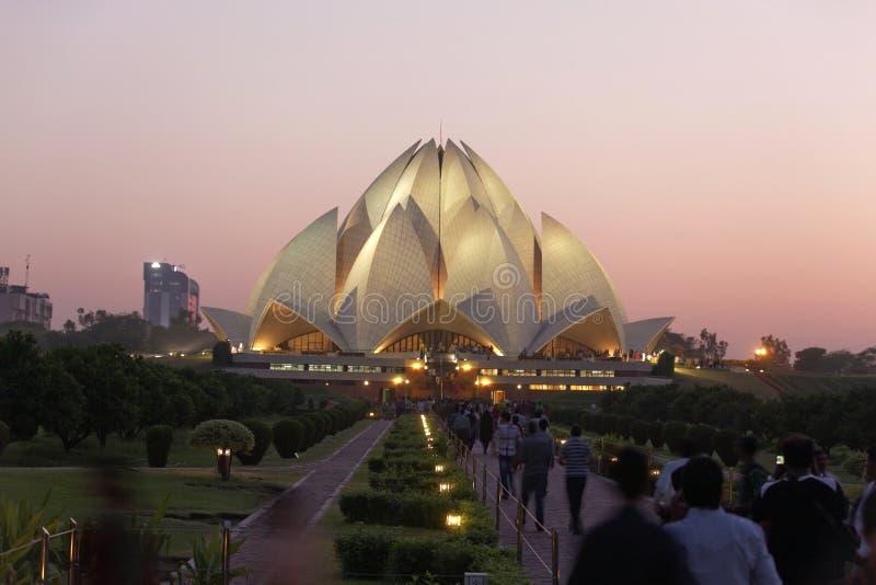 Ναός Νέο Δελχί, 25.2011 Lotus Σεπτεμβρίου: Δελχί Ο τόπος λατρείας Bahai, αποκαλούμενος επίσης ναό Lotus ολοκληρώθηκε το 1986 στοκ εικόνες