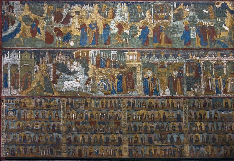 ναός νωπογραφίας στοκ εικόνες