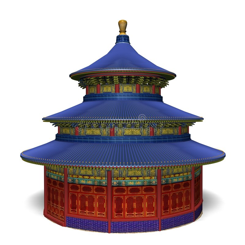 ναός ουρανού απεικόνιση αποθεμάτων