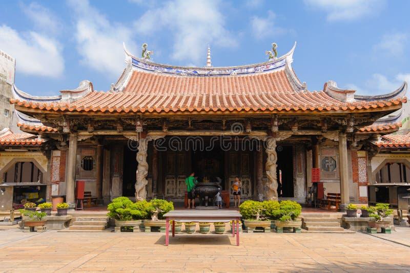 Ναός παραδοσιακού κινέζικου στην Ταϊβάν στοκ φωτογραφία