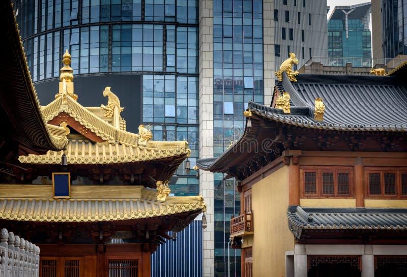 Ναός Σαγκάη, Κίνα Ασία Jingan στοκ εικόνες