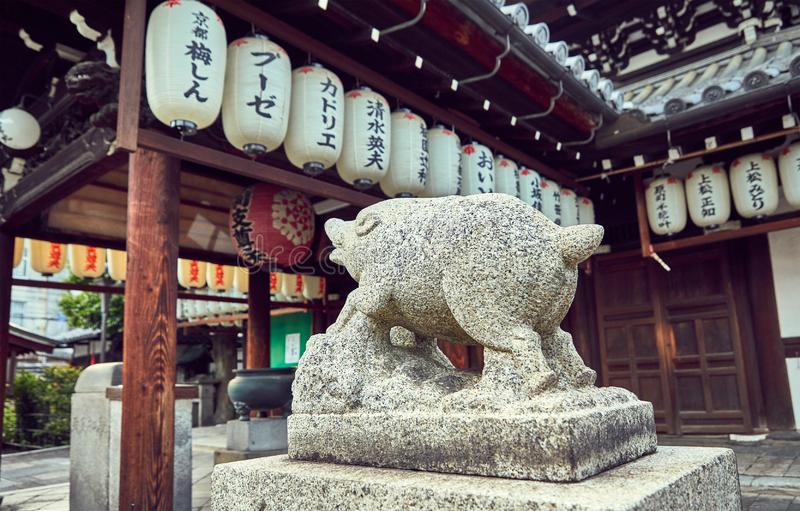 Ναός σε Gion, παλαιά περιοχή στο Κιότο, Ιαπωνία στοκ εικόνες με δικαίωμα ελεύθερης χρήσης