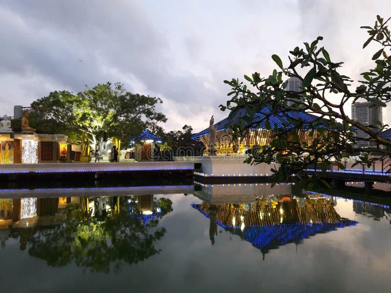 Ναός Σρι Λάνκα Gangaramaya στοκ εικόνα με δικαίωμα ελεύθερης χρήσης