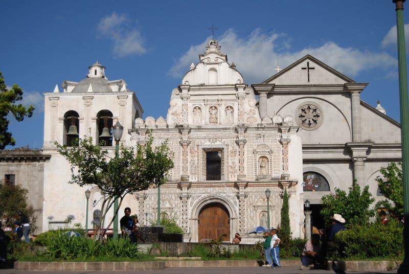 Ναός στην Αντίγουα Γουατεμάλα στοκ εικόνα με δικαίωμα ελεύθερης χρήσης