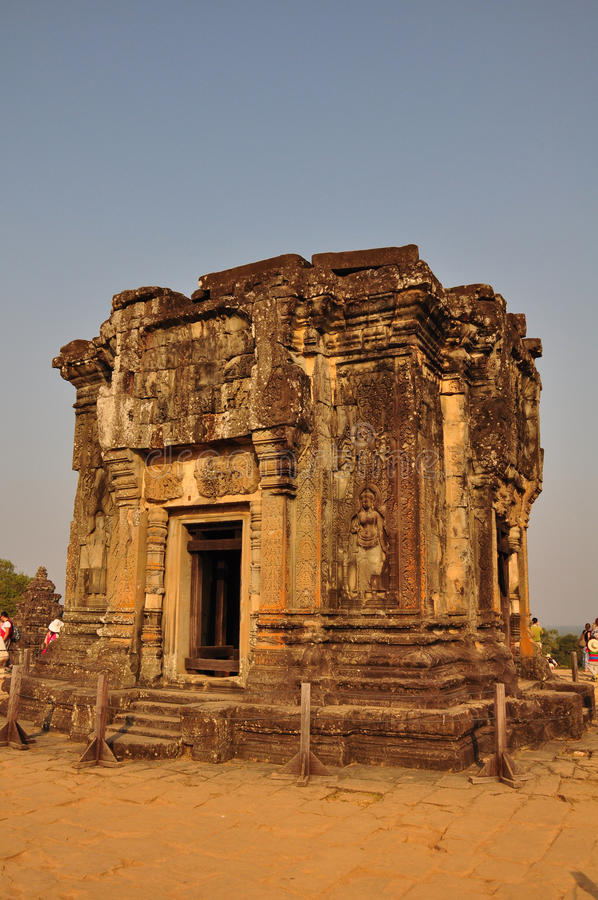 Ναός στην κορυφή Phnom Bakheng, Angkor στοκ εικόνα