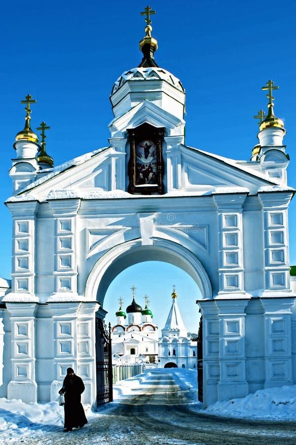 Ναός στη Ρωσία σε Nizhniy Novgorod στοκ εικόνα με δικαίωμα ελεύθερης χρήσης