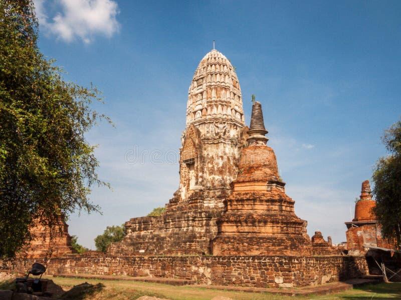 Ναός σύνθετος σε Ayutthaya, Ταϊλάνδη στοκ εικόνα με δικαίωμα ελεύθερης χρήσης
