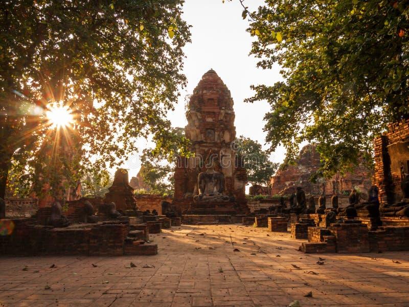 Ναός σύνθετος σε Ayutthaya, Ταϊλάνδη στοκ εικόνες με δικαίωμα ελεύθερης χρήσης