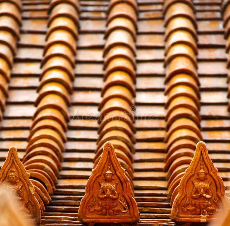 ναός Ταϊλάνδη στεγών στοκ φωτογραφία με δικαίωμα ελεύθερης χρήσης