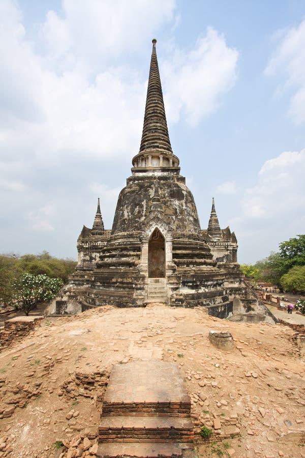 Download ναός Ταϊλάνδη Si Phra Ayutthaya Sanphet Wat Στοκ Εικόνα - εικόνα από λόφος, πύργος: 13189687