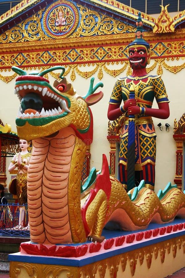 ναός Ταϊλανδός αγαλμάτων στοκ φωτογραφία