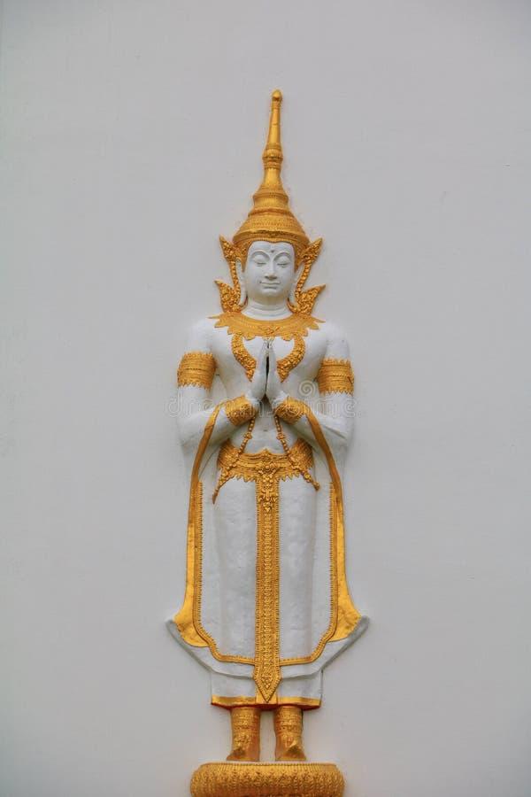 ναός Ταϊλανδός μπλε ουραν στοκ φωτογραφία με δικαίωμα ελεύθερης χρήσης