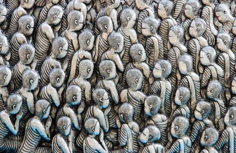 ναός Ταϊλανδός τέχνης στοκ φωτογραφίες