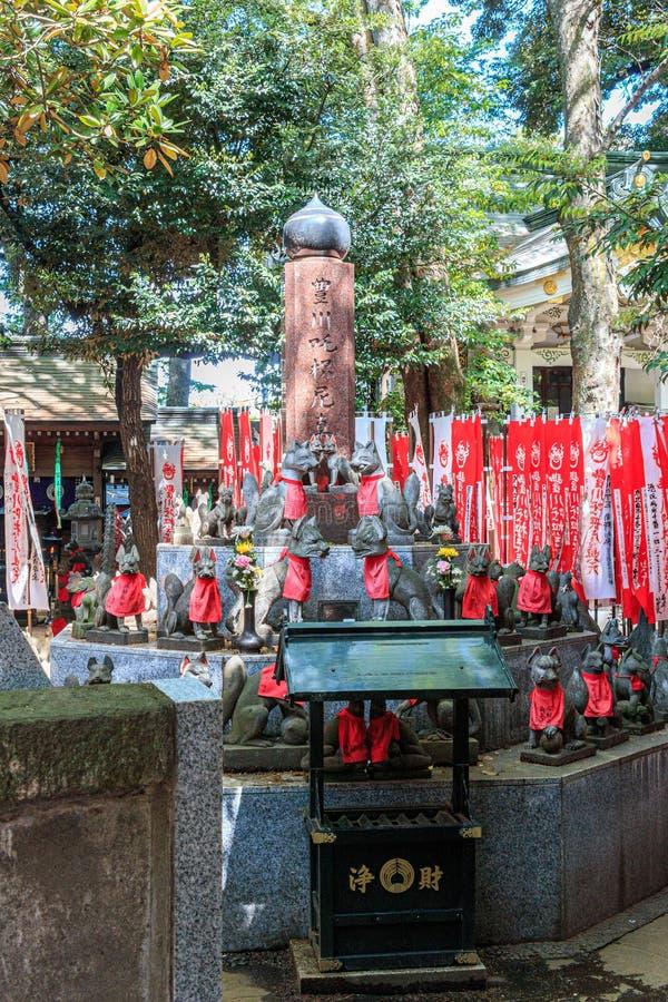 Ναός της Ιαπωνίας των λαρνάκων Inari Toyokawa στοκ εικόνες με δικαίωμα ελεύθερης χρήσης