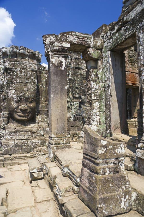 ναός της Καμπότζης angkor bayon thom στοκ φωτογραφία
