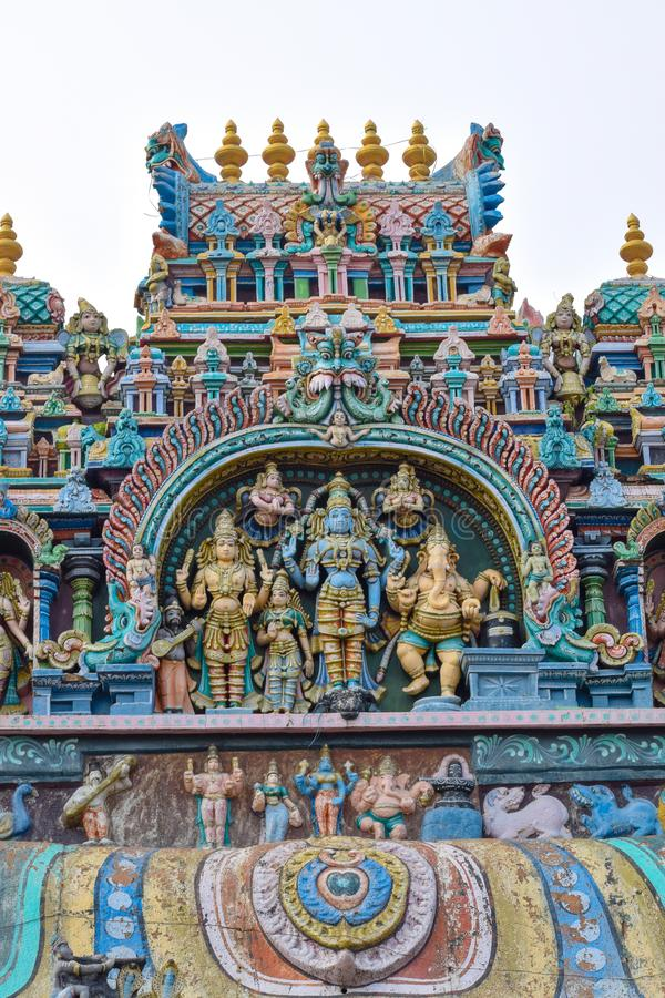 Ναός της νότιας Ινδίας Madurai Thiruparankundram Murugan στοκ φωτογραφία με δικαίωμα ελεύθερης χρήσης