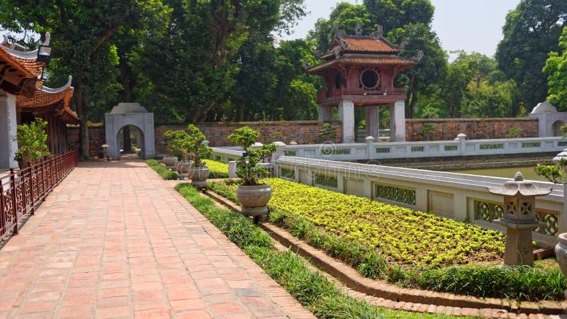 Ναός της λογοτεχνίας, Ανόι στοκ φωτογραφία με δικαίωμα ελεύθερης χρήσης