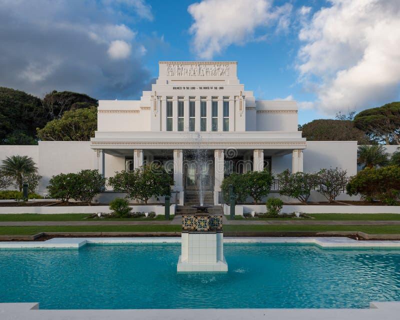 Ναός της Χαβάης Laie στοκ εικόνα