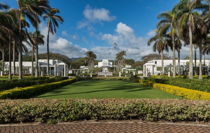 Ναός της Χαβάης Laie στοκ εικόνες