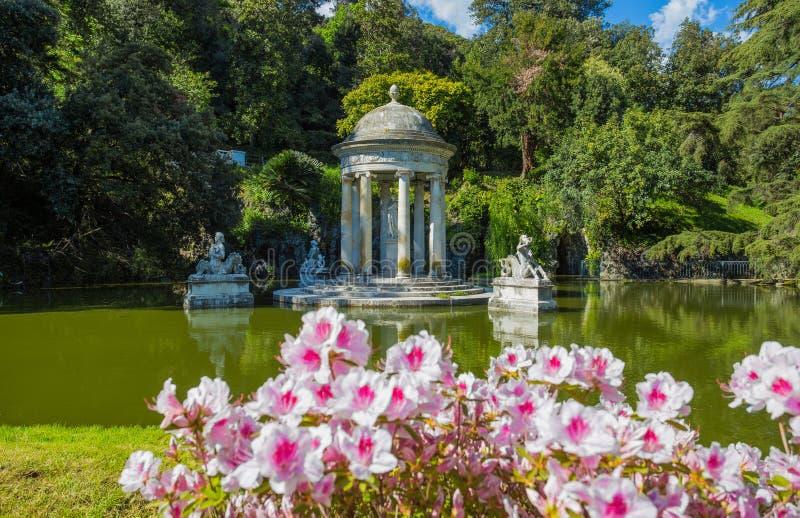 Ναός της Diana στη βίλα Durazzo- Pallavicini στη Γένοβα Pegli, Ιταλία στοκ εικόνες με δικαίωμα ελεύθερης χρήσης