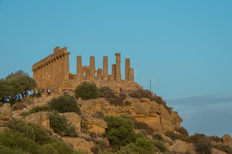 Ναός της Juno που βρίσκεται στο πάρκο της κοιλάδας των ναών στοκ εικόνες