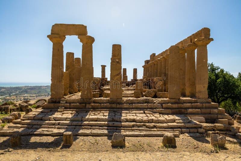 Ναός της Juno στην κοιλάδα των ναών - Agrigento, Σικελία, Ιταλία στοκ φωτογραφία