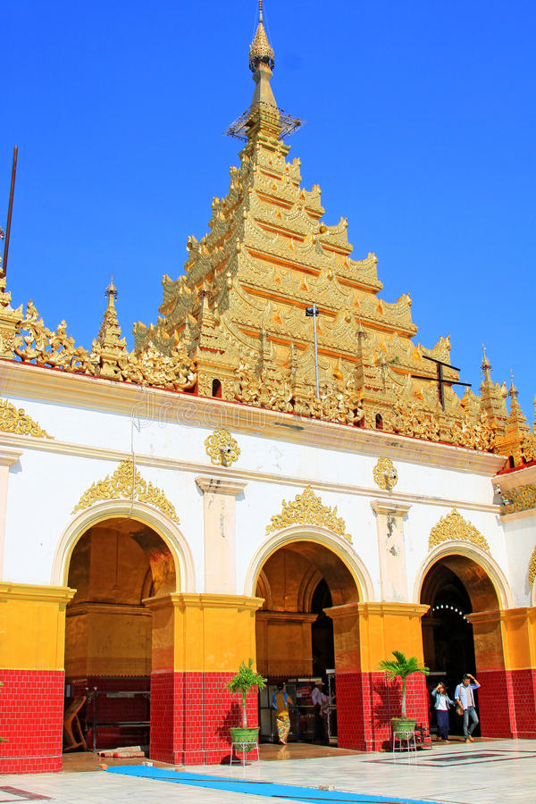 Ναός του Βούδα Mahamuni, Mandalay, το Μιανμάρ στοκ φωτογραφία με δικαίωμα ελεύθερης χρήσης