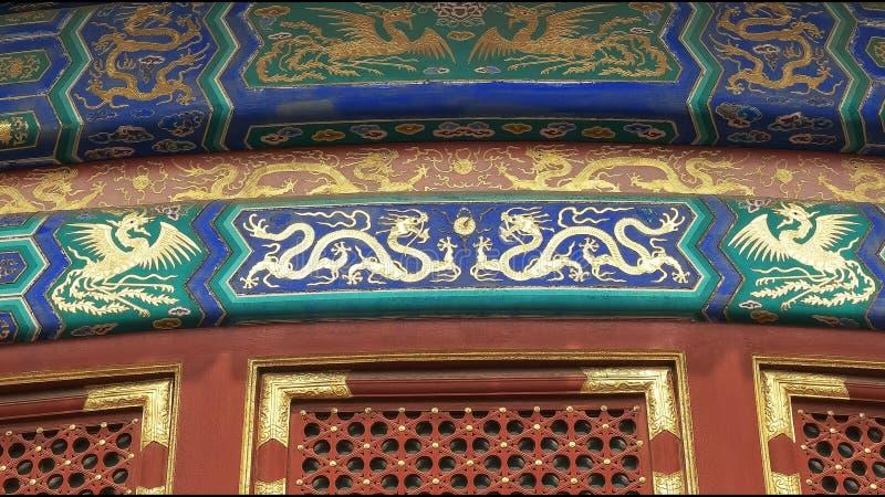 Ναός του δράκου και του Φοίνικας ουρανού στο Πεκίνο στοκ εικόνες