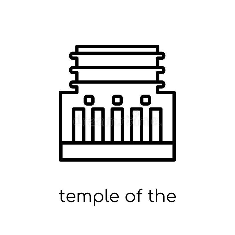Ναός του εικονιδίου νωπογραφιών Καθιερώνον τη μόδα σύγχρονο επίπεδο γραμμικό διανυσματικό Te ελεύθερη απεικόνιση δικαιώματος