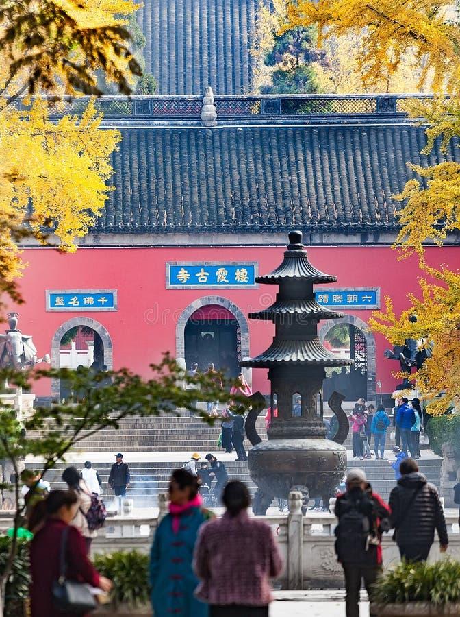 Ναός του Ναντζίνγκ Qixia στοκ φωτογραφία