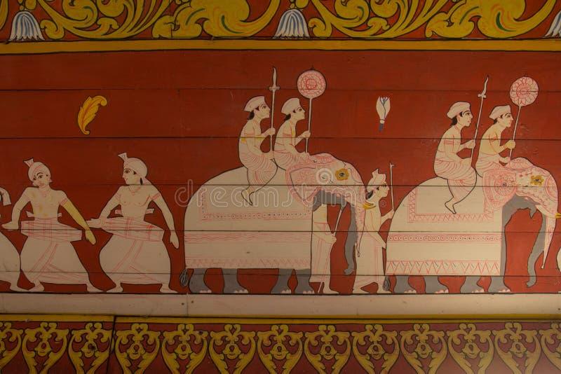 Ναός του δοντιού, Kandy, Σρι Λάνκα στοκ εικόνα με δικαίωμα ελεύθερης χρήσης