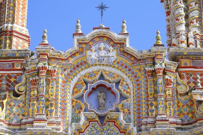 Ναός του Σαν Φρανσίσκο acatepec Χ στοκ εικόνες με δικαίωμα ελεύθερης χρήσης
