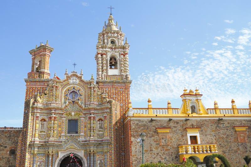 Ναός του Σαν Φρανσίσκο acatepec VI στοκ φωτογραφία