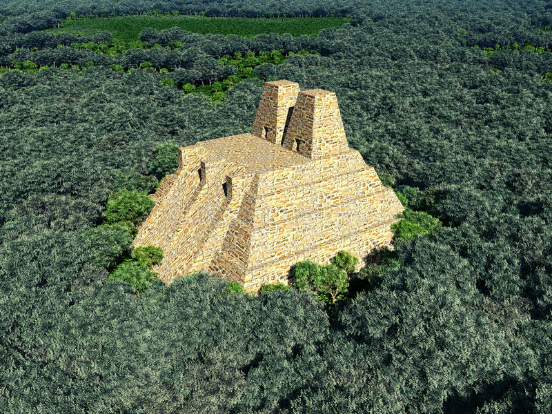 Ναός των Αζτέκων ελεύθερη απεικόνιση δικαιώματος