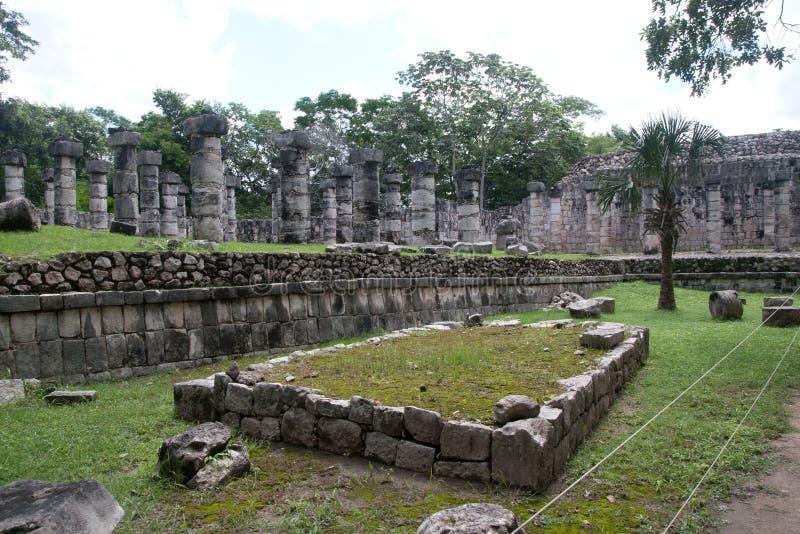 ναός χίλια πολεμιστές στοκ εικόνες