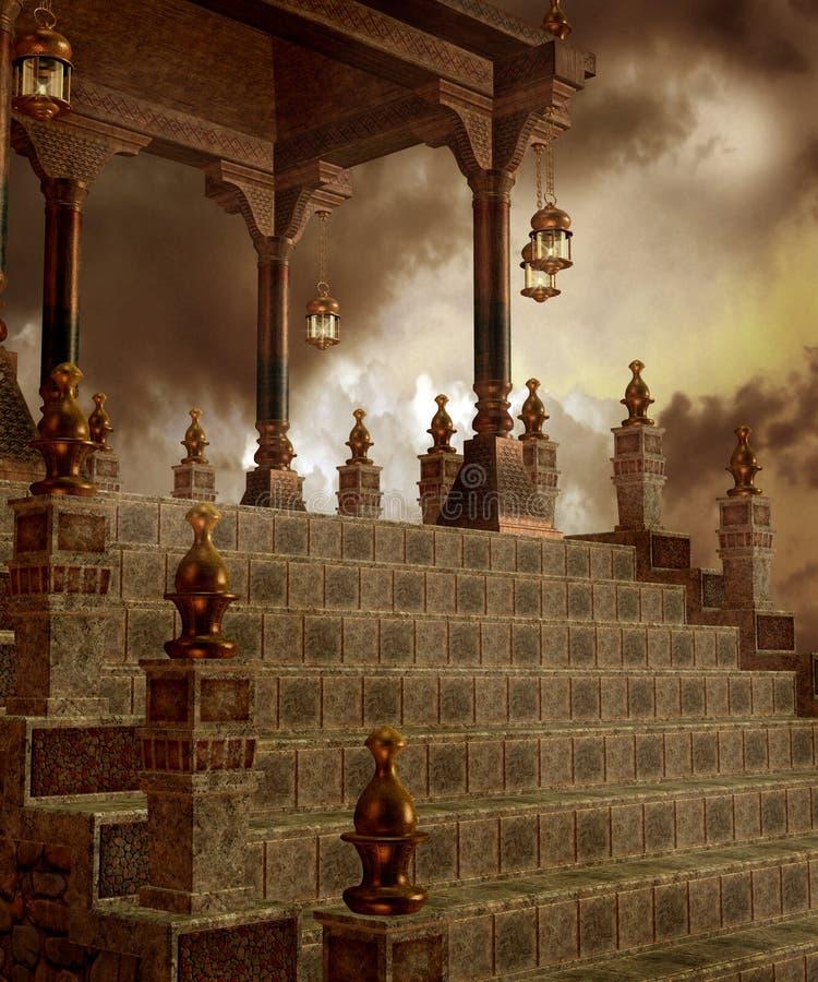 ναός 10 φαντασίας απεικόνιση αποθεμάτων
