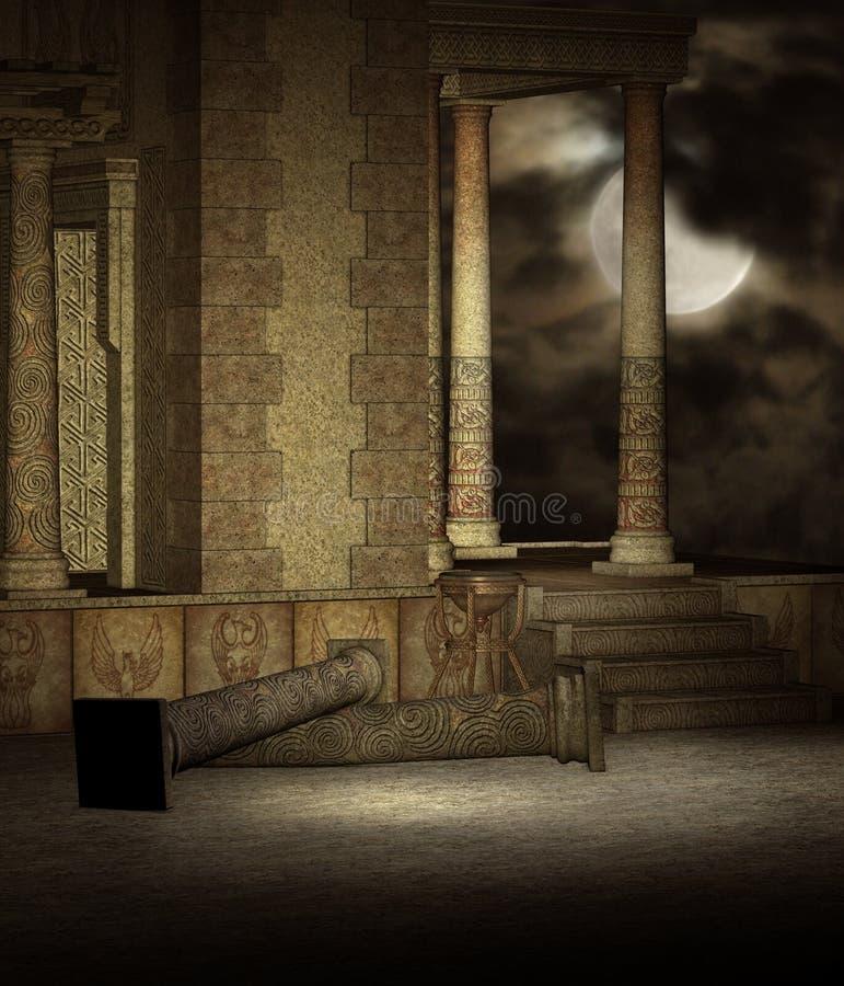 ναός 11 φαντασίας ελεύθερη απεικόνιση δικαιώματος