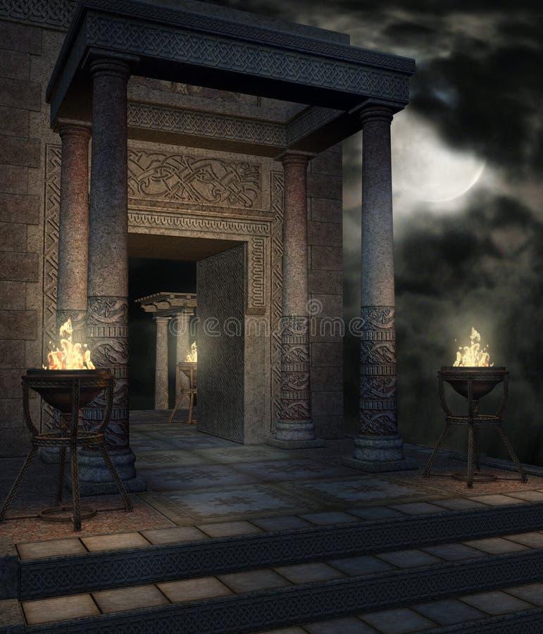 ναός 12 φαντασίας διανυσματική απεικόνιση
