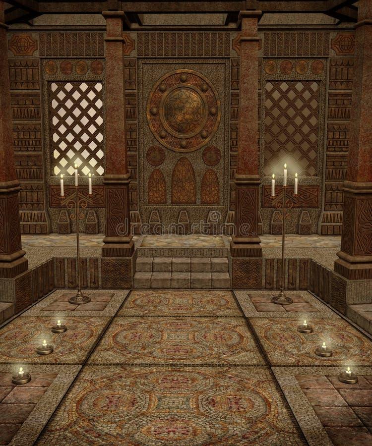 ναός 5 φαντασίας ελεύθερη απεικόνιση δικαιώματος