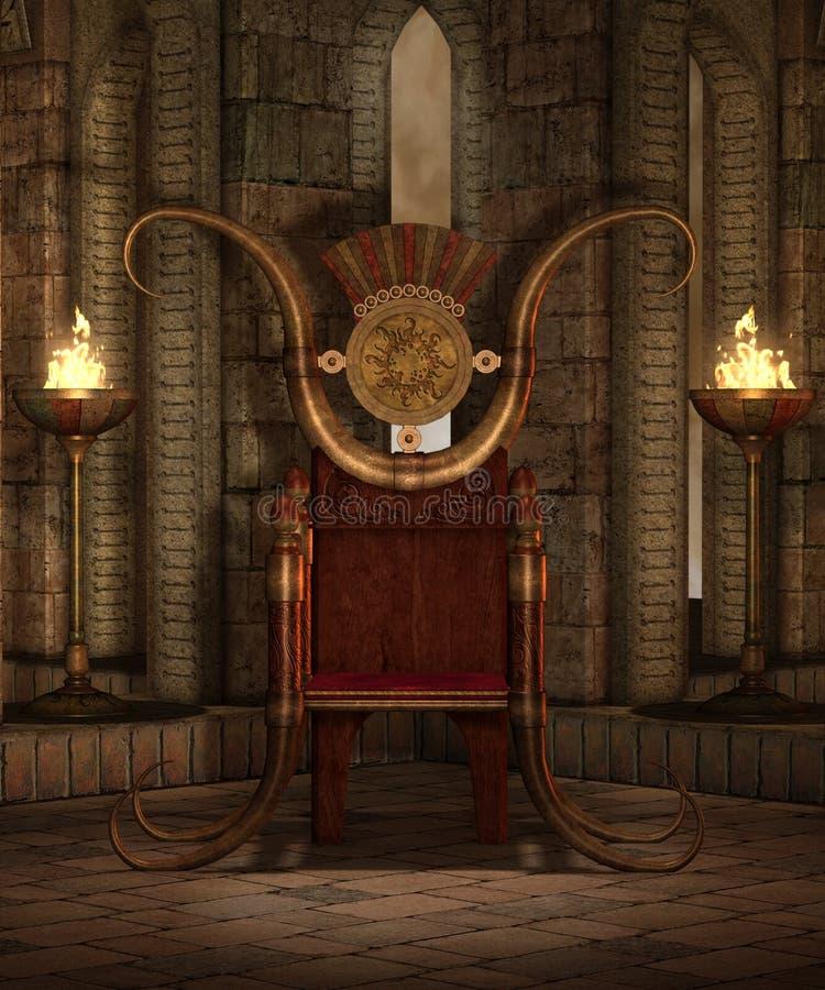 ναός 6 φαντασίας διανυσματική απεικόνιση