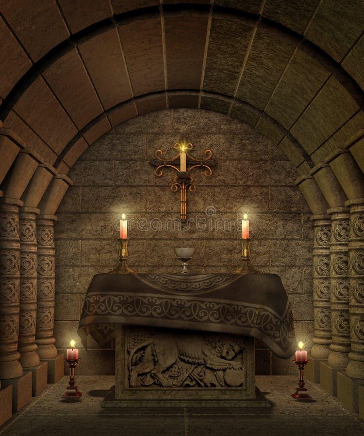 ναός 8 φαντασίας διανυσματική απεικόνιση